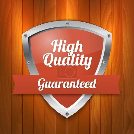 Illustration pour Bouclier de haute qualité - garanti - image libre de droit