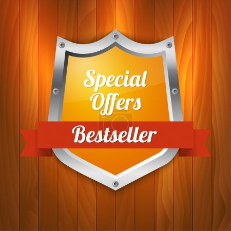 Illustration for Vector sale label. Special offers. Bestseller - Royalty Free Image