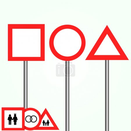 Blank road signs vector collection