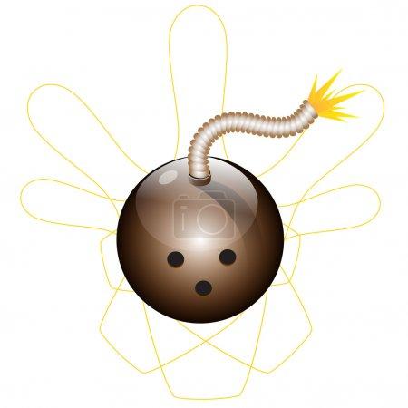 Vector bowling ball looks like bomb