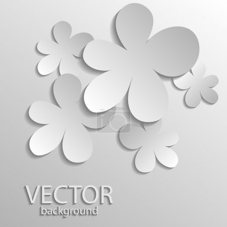 Illustration for Vector illustration of silver clover. - Royalty Free Image