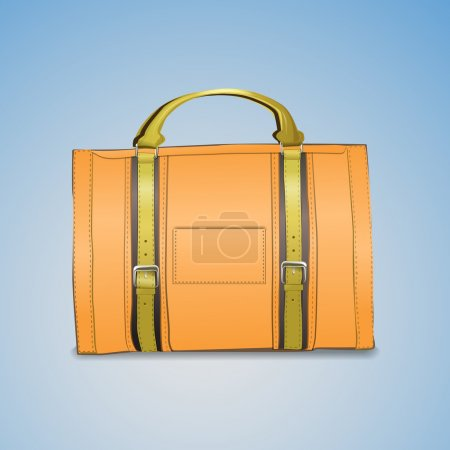 Vector illustration of leather briefcase