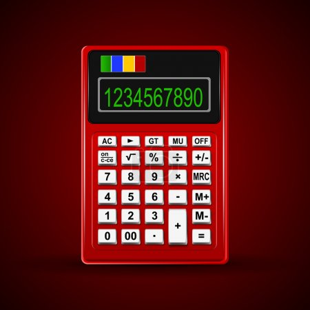 Illustration for One Calculator. Vector illustration - Royalty Free Image