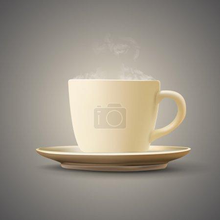 Illustration pour Une tasse de café. Illustration vectorielle - image libre de droit