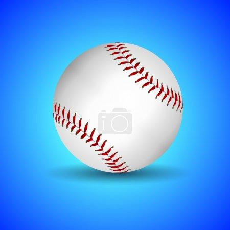 Vector baseball over blue background