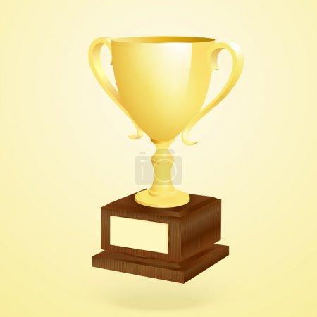 Golden trophy. Vector illustration