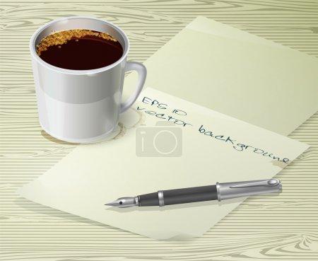 Office desk composition vector illustration
