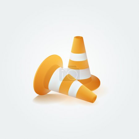 Traffic cones,  vector illustration