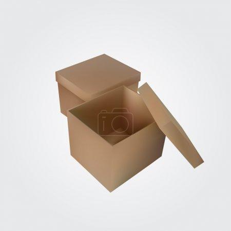 Illustration pour Vecteur ouvert boîte vide - image libre de droit