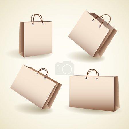 Illustration pour Illustration vectorielle des sacs à provisions vectoriels - image libre de droit