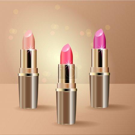 Illustration for Red Lipsticks. Vector illustration. - Royalty Free Image