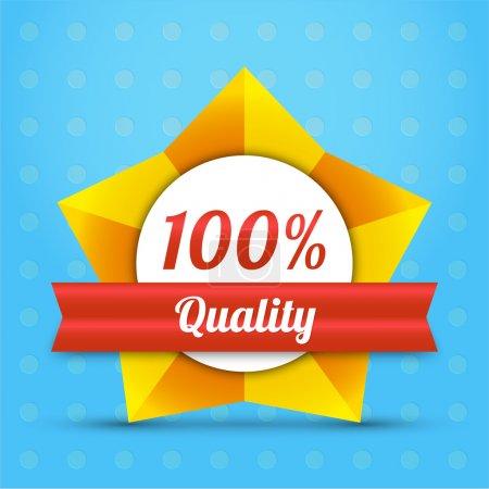 Illustration pour Badge étoile de qualité vectorielle - image libre de droit