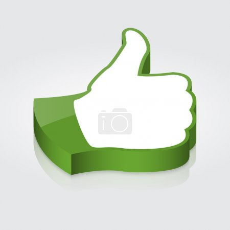 Thumb up icon. Vector