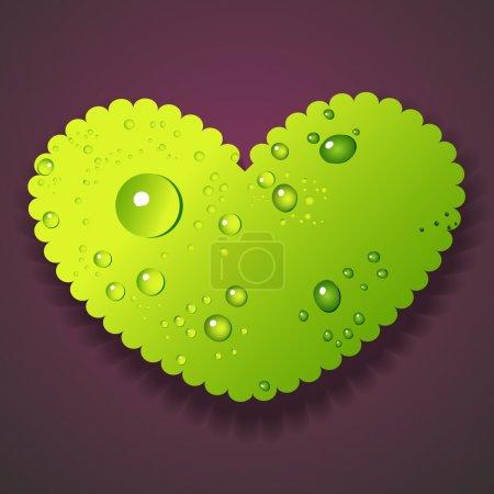 Illustration pour Illustration vectorielle de gouttes d'eau coeur - image libre de droit