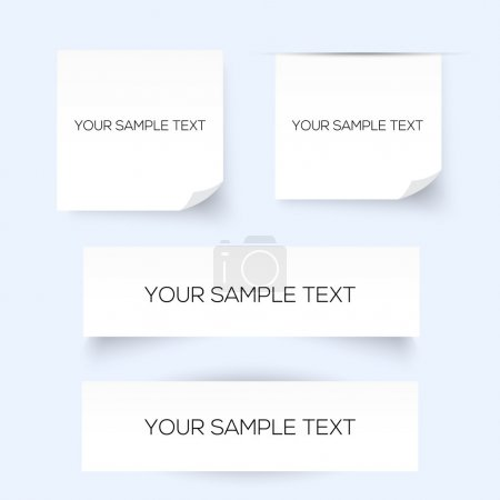 Set of four sheets of paper