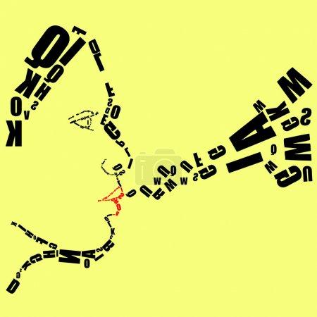 Illustration pour Typographie Vecteur Femme Visage - image libre de droit