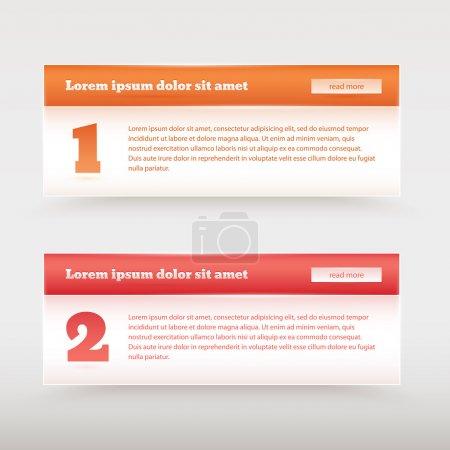 Illustration pour Modèles de conception de site Web illustration vectorielle - image libre de droit