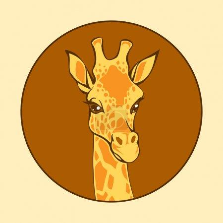 Illustration pour Tête de girafe, illustration vectorielle - image libre de droit