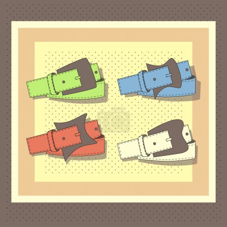 Illustration pour Ceintures en cuir enroulé, vecteur - image libre de droit
