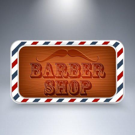 Wooden board for Barber Shop.