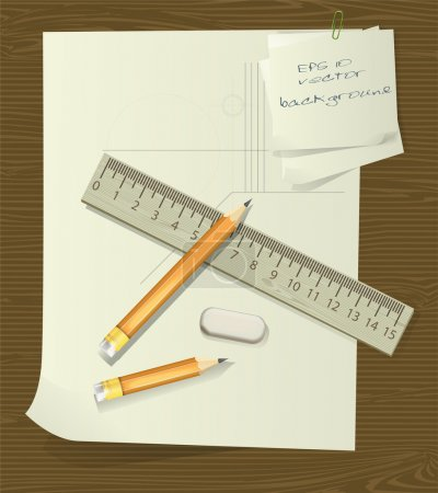 Ruler and pencil over paper