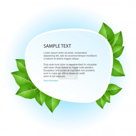 Illustration for Eco banner with green leaves. Vector illustration - Royalty Free Image