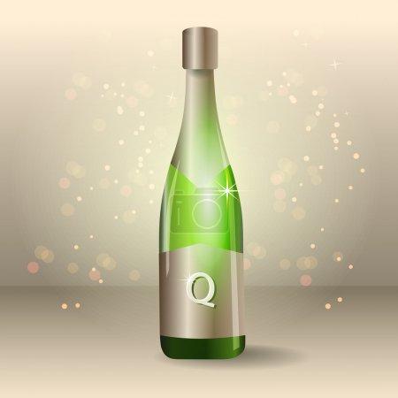 Illustration pour Une bouteille de champagne - vecteur - image libre de droit