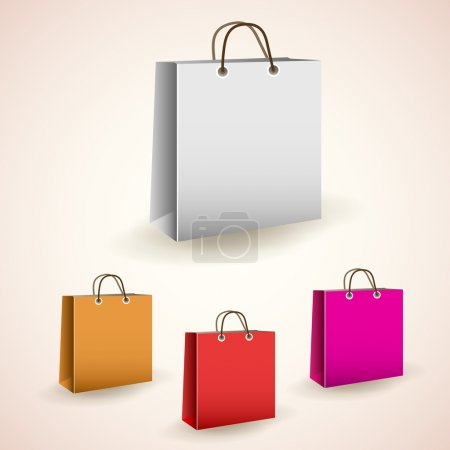 Photo for Vector colorful shopping bags - Royalty Free Image