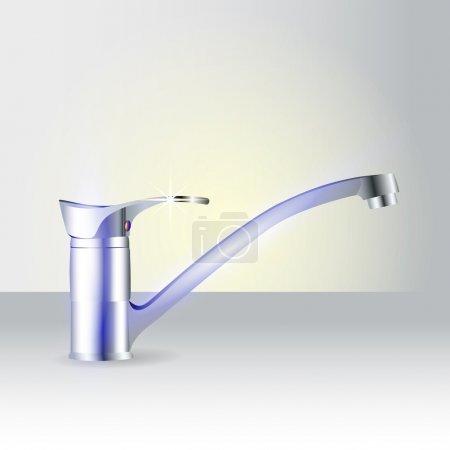 Modern vector tap vector illustration