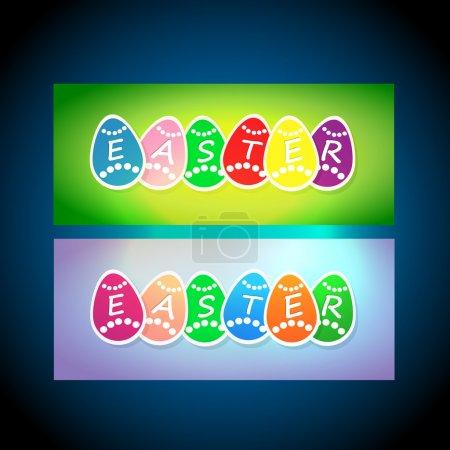 Cartes vectorielles de Pâques. illustration vectorielle