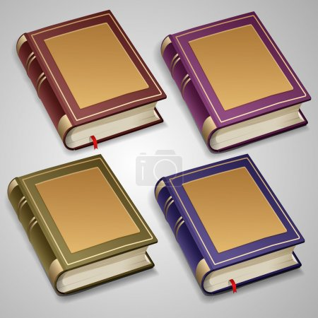 Vector set of old books