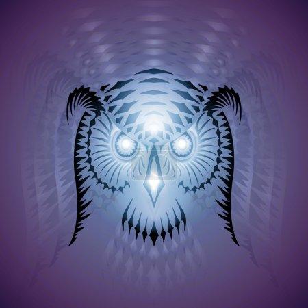 Illustration pour Tête de hibou - illustration vectorielle ornementée - image libre de droit