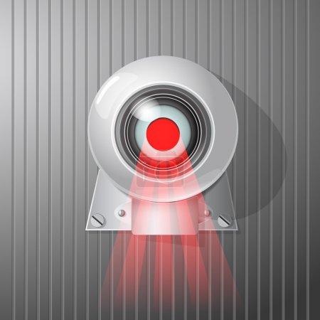 Illustration pour Caméra de surveillance, illustration vectorielle - image libre de droit