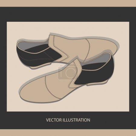 Illustration pour Chaussures homme, vecteur - image libre de droit
