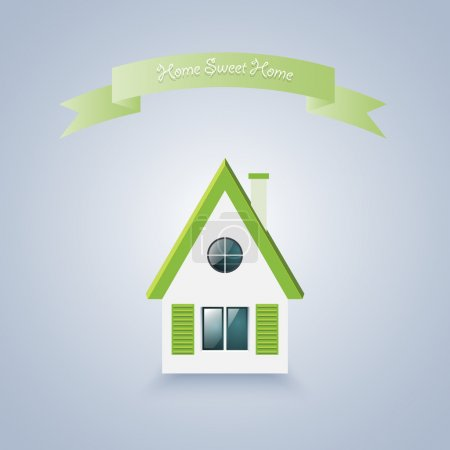 Home sweet home. Vector illustration