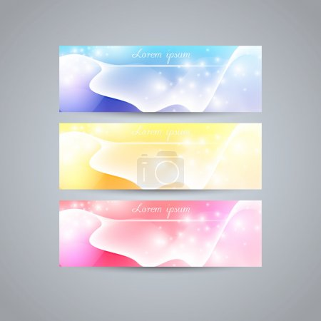 Stylized web banners, vector design