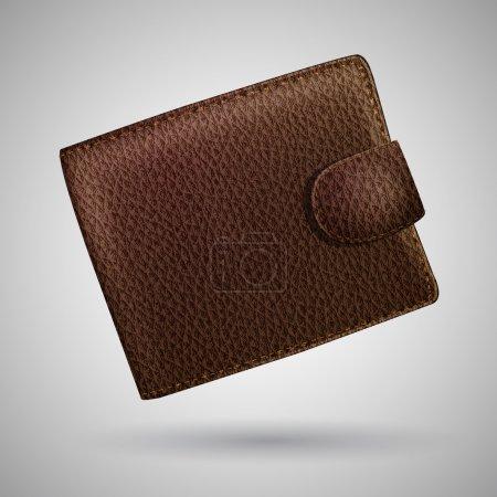 Leather wallet. Vector illustration