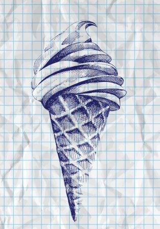 Eiszapfen-Doodle, Vektor
