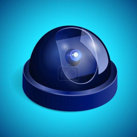 Illustration pour Illustration vectorielle de caméra de surveillance vidéo - image libre de droit