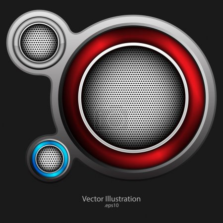 Abstract metallic background. vector design