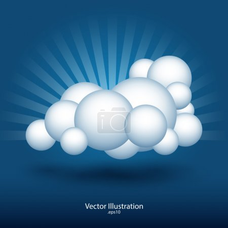 Abstract cloud vector illustration.