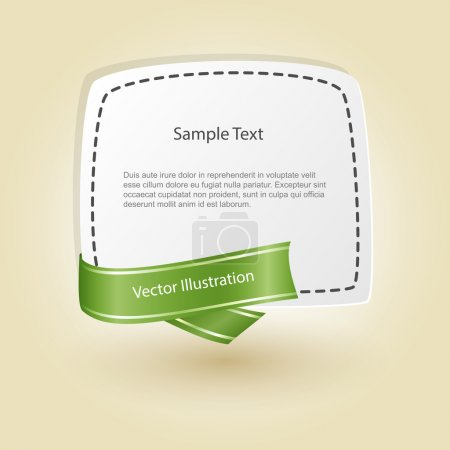 Illustration for Banner with ribbon. vector design - Royalty Free Image