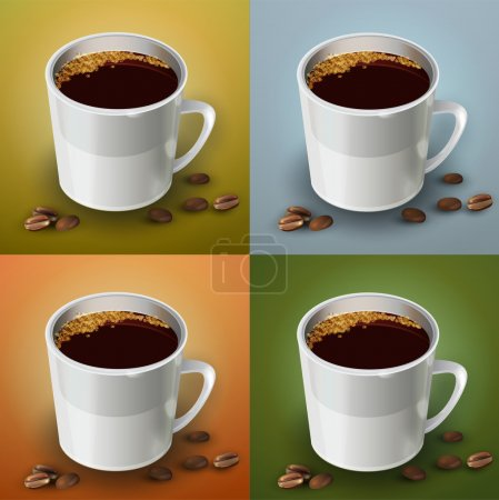 Vector set of coffee cups.