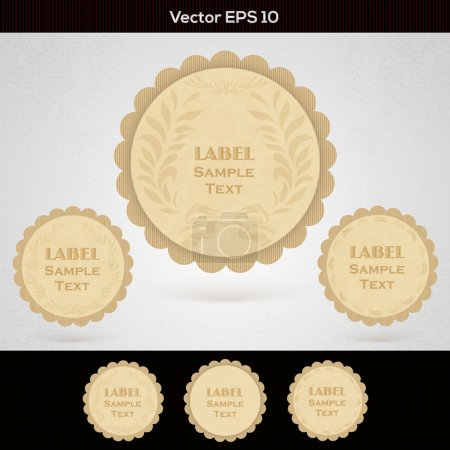 Illustration for Set of wooden labels - Royalty Free Image