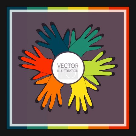 Illustration pour Fond vectoriel avec gants . - image libre de droit