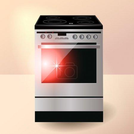Illustration pour Cuisinière électrique. Illustration vectorielle . - image libre de droit