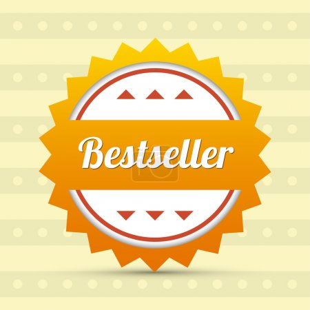 Illustration pour Label - Best-seller. illustration vectorielle - image libre de droit
