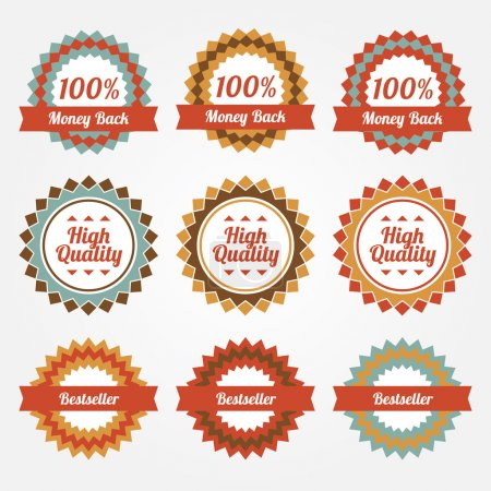 Illustration for Collection of sale badges, labels. - Royalty Free Image