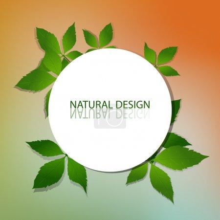 Photo for Vector Natural Design Frame - Royalty Free Image