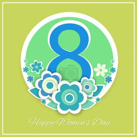 Illustration pour Carte de vœux vectoriel jour des femmes avec des fleurs - image libre de droit